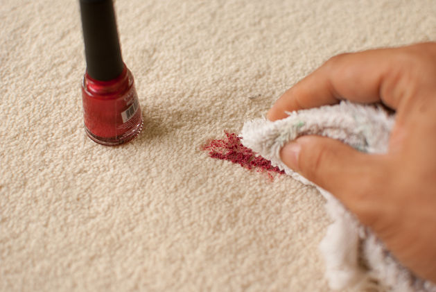how to remove nail polish stains from carpet