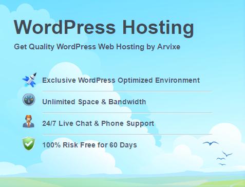 Arvixe WordPress Hosting
