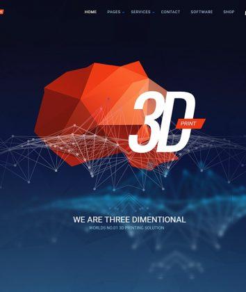 ThreeD Business Wordpress Theme 3D BUSINESS