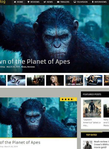 MagXP Wordpress Theme Movie Style