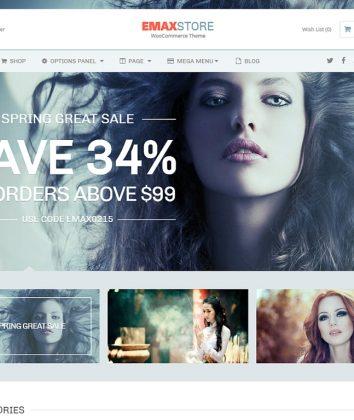 eMaxStore WordPress Theme Homepage